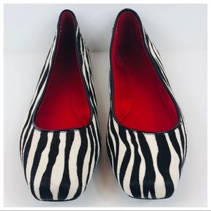 Kate Spade Calf Hair Zebra Ballet Slippers Size 8